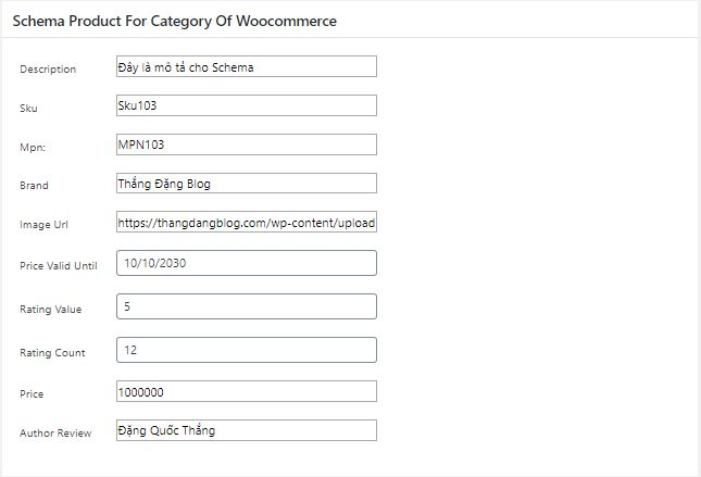 Plugin Schema Product For Category Of WooCommerce